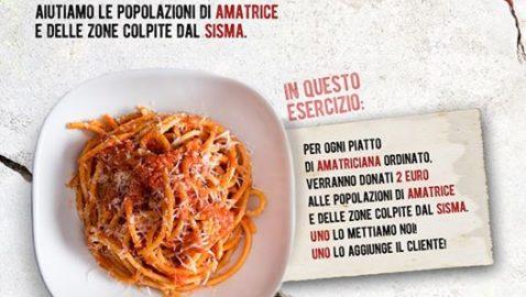 AMATriciana: cresce anche a Pistoia il numero dei ristoranti con il piatto solidale.